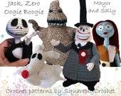 Crochet pattern Jack, Zero, Oogie Boogie, the Mayor and Sally (Nightmare before Christmas)
