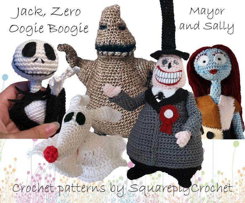 Crochet pattern Jack Zero Oogie Boogie the Mayor and Sally image 0
