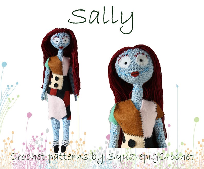 Sally crochet pattern 14'' inch ready for halloween image 0