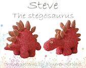 Dinosaur crochet pattern Steve the Stegosaurus