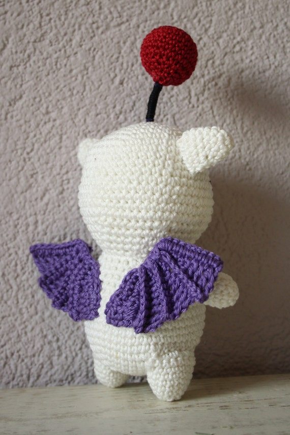 Moogle Crochet Pattern This Cute Moogle From Ff14 Is Not Hard Etsy