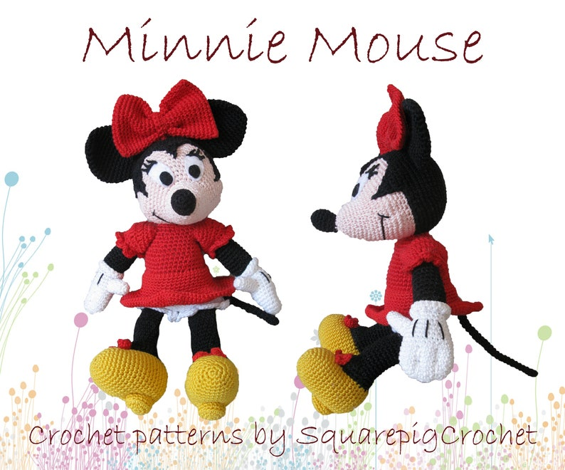 Minnie mouse crochet pattern about 14 inches tall image 0