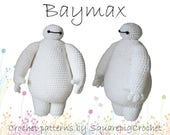 Baymax crochet pattern from Big Hero 6! About 10 inches tall