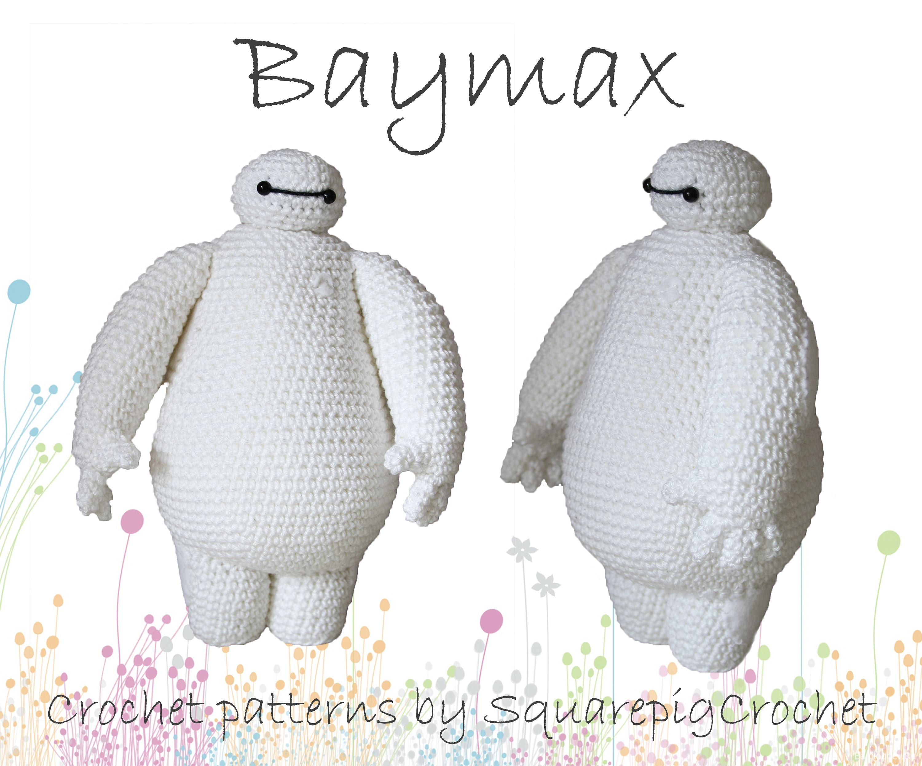 Baymax crochet pattern from Big Hero 6 About 10 inches tall | Etsy