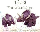 Dinosaur crochet pattern Tina Triceratops