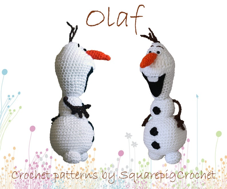 Olaf crochet pattern from Frozen About 10 inches tall image 0