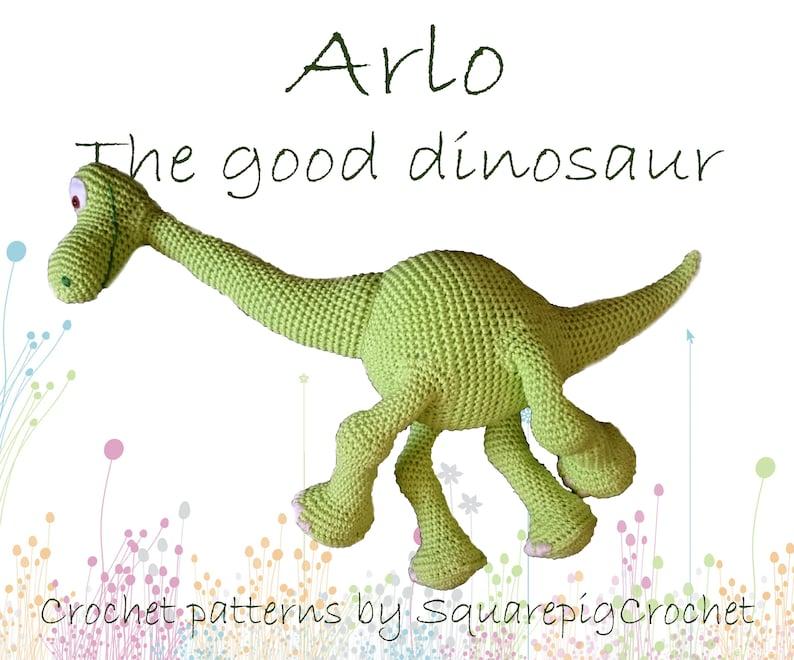 Arlo the good dinosaur crochet pattern 20 inch tall image 0