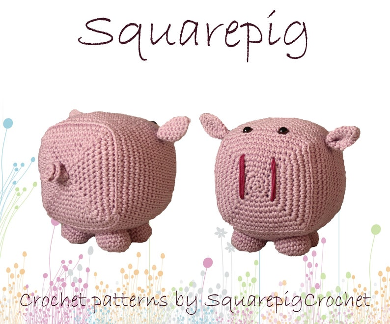 Squarepig crochet pattern an adorable square pig image 0