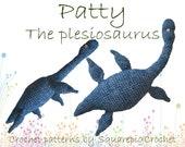 Dinosaur crochet pattern Patty the Plesiosaurus