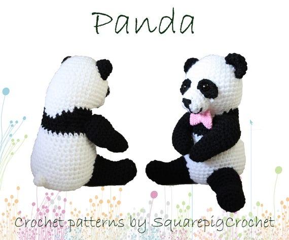 Panda Haakpatroon Deze Schattige Panda Is Ongeveer 25 Cm Hoog Etsy