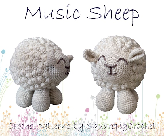 Sheep Crochet Pattern With A Musicbox Inside About 65 Tall Etsy