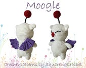 Moogle crochet pattern. This cute Moogle from FF14 is not hard to make and still adorable!