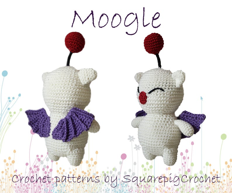 Moogle crochet pattern. This cute Moogle from FF14 is not hard image 0