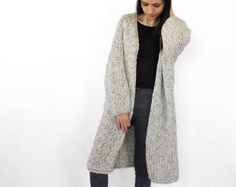 Plus Size Sweater Hand Knit Cardigan Womens Sweaters Knit Etsy