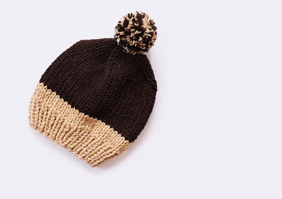 c908f1d3f22 Wool slouchy beanie hat Hand knit beanie Unisex Men beanie