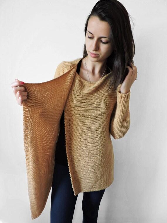 sweater Wool cardigan winter Cozy Wool sweater knit overcoat Loose camel Warm Beige long Knit overcoat sweater cardigan soft Womens wool qqUITxfw