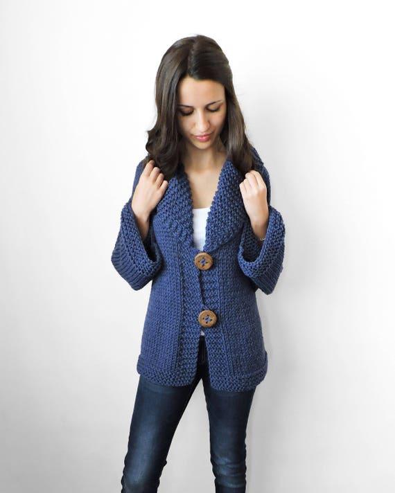 Merino Wool Hand Knitted Sweater Plus Size Sweater Womens Etsy