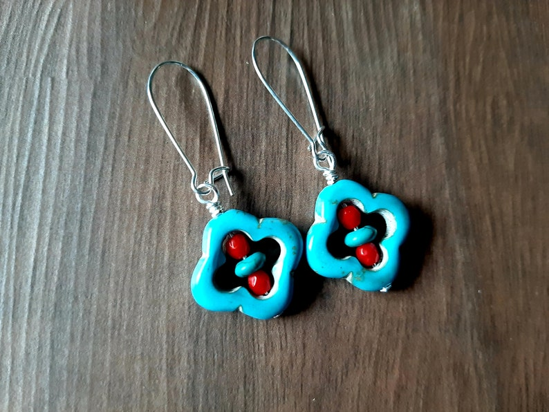Reconstituted Turquoise Earrings