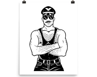 Macho Daddy Art Print — Sexy LGBTQ gay artwork 2