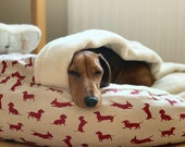 Luxury cave bed snuggle top bed dachshund bed dog bed