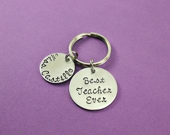 Personalized Teacher Gift - Teacher Keychain - Teacher Appreciation - End of Year Teacher Gift -  Teacher Present - Best Teacher Gift