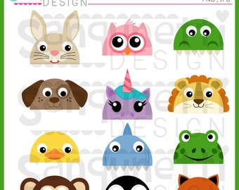 animal tails animal clipart tails clipart shark clipart etsy