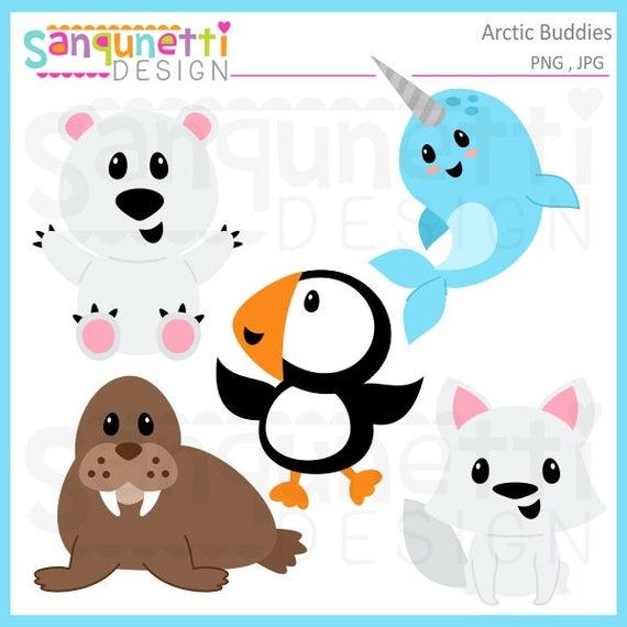 Arktischen Tiere Clipart Buddy Elf Weihnachten Winter Etsy
