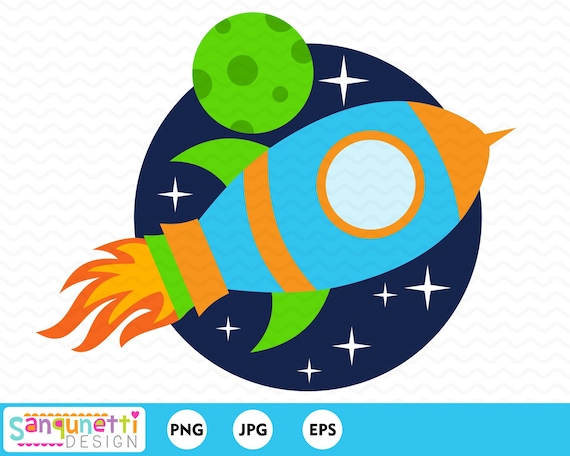 Rocket Clipart Outer Space Clipart Digital Art For Boys