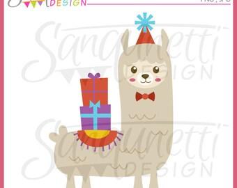 Llama clipart, alpaca clipart, Birthday Clipart, Party Clipart, Instant download