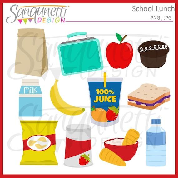 School Lunch Clipart Lunchbox Food