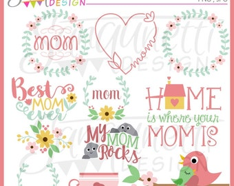 Mother's Day Clipart, mothers day clipart, mother's day, mothers day clip art, floral clipart, flower clipart, spring clipart