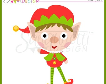 Christmas Elf Clipart, Elf Cliaprt, Elf Graphic, Christmas Graphic, Commercial Use License Included