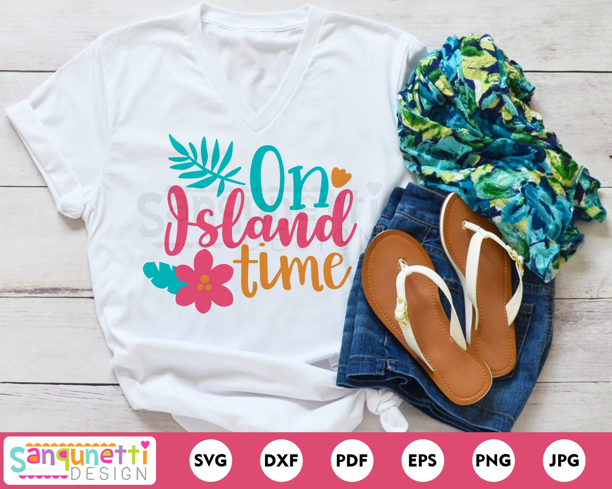 On Island Time Tropical Svg Summer Vacation Cutting File For Etsy