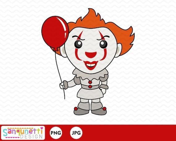 Scary Clown Clipart Halloween Character Horror Digital Art Etsy