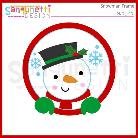 snowman clipart winter clipart snowman frame christmas etsy rh etsy com snowman clipart images snowman clipart images