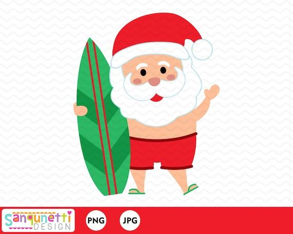 beach christmas santa clipart summer santa graphic instant etsy beach christmas santa clipart summer santa graphic instant download
