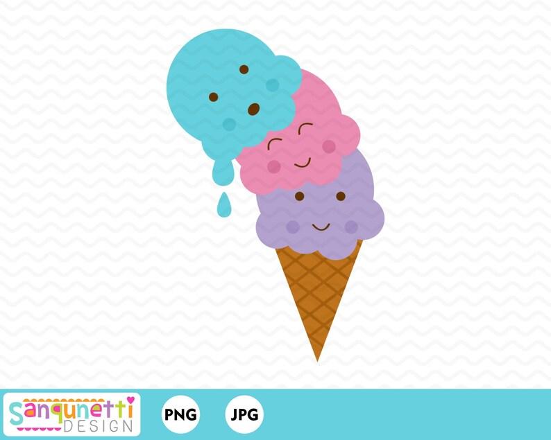 3c43822a2189d Falling Ice Cream Clipart, Ice cream clipart, sweets clipart, summer  clipart, dessert clipart, Instant download