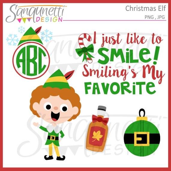 Weihnachten Buddy Elf Cliparts Winter Urlaub Grafiken Etsy