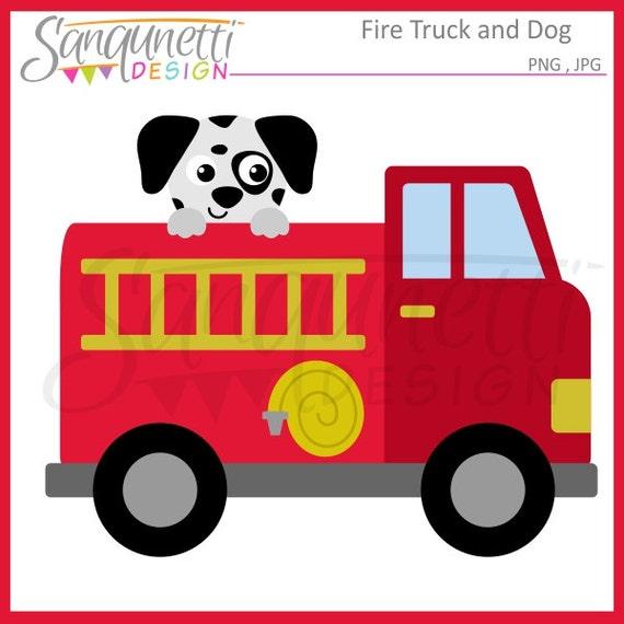 fire truck clipart transportation clipart dalmatian clipart etsy rh etsy com clip art fire truck images clip art fire truck scene