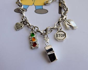 School Crossing Guard Charm Bracelet, School Crossing Gift, School Crossing Guard Appreciation Gift
