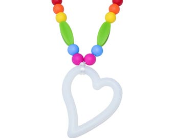 Girls' Heart Pendant Chewelry - Munchables Sensory Chew Necklaces