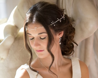 Bridal or bridesmaids hair circlet, vine, Bride, with Swarovski Crystal Elements