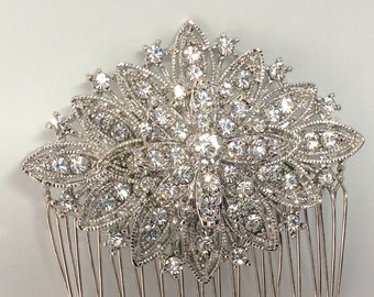 Crystal hair comb, vintage Art Deco style, crystal diamanté, diamond, 1920's style, bridal hair, perfect to add a subtle touch of glamour