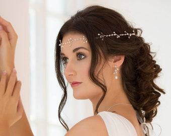 Hair vine, circlet, boho Bride, Swarovski crystal, gold, silver, rose gold, hair piece, wedding accessories, accessory, bride hair accessory
