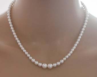 pearl necklace, with option to add bracelet pearl drop earrings, custom colours,