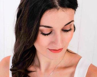 Low Swarovski Crystal bridal tiara, sparkling clear wedding hair band, Made to your chosen coloirs