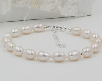 Pearl and crystal bridal Bracelet, bridesmaid gift, finished in silver, gold, jewellery, bride, mother of bride gifts, bridesmaid gifts