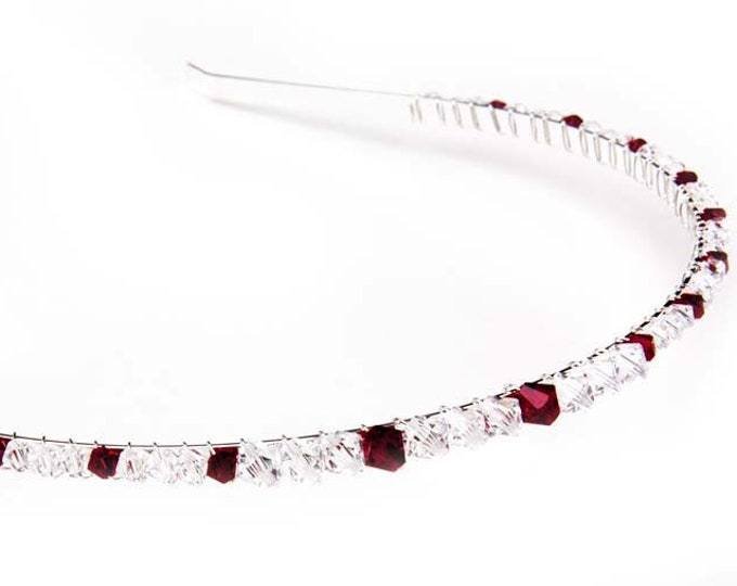 Crystal Tiara, head band, Swarovski crystal, bridal head piece, prom,  Bridesmaid or Flowergirl pefect for wedding, or prom hair accessory