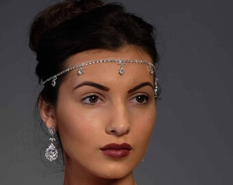 Crystal Forehead piece, Cubic zirconia, with optional matching jewellery
