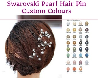 pearl hair pins, hair vine sprays, made with Swarovski pearls and ideal for brides, bridesmaid, flower girl,
